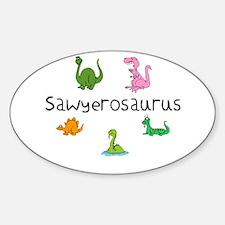 Sawyerosaurus Oval Decal