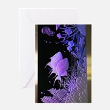 Neon Purple Sea Life Greeting Card