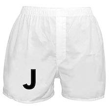 Letter J Black Boxer Shorts