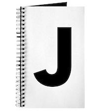 Letter J Black Journal