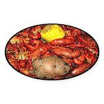 Crawfish Oval Sticker