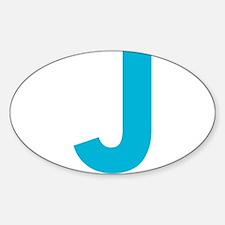Letter J Blue Decal