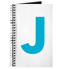 Letter J Blue Journal