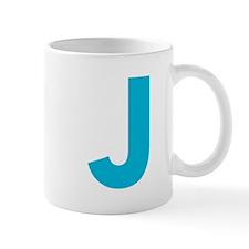 Letter J Blue Mugs