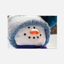 Cute Snowman Face Rectangle Magnet