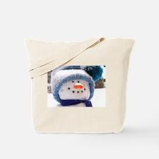 Cute Snowman Face Tote Bag