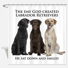 Creation of Labs Shower Curtain