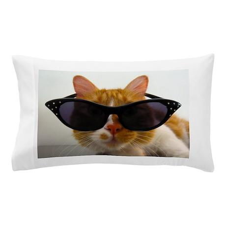 Cool Cat in Sunglasses Pillow Case