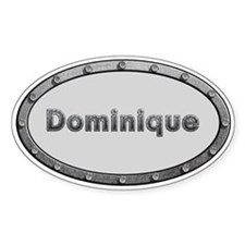 Dominique Metal Oval Decal