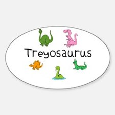 Treyosaurus Oval Decal