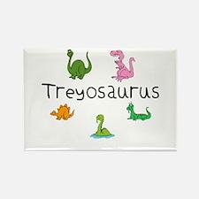 Treyosaurus Rectangle Magnet