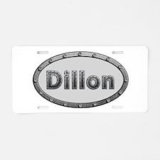 Dillon Metal Oval Aluminum License Plate