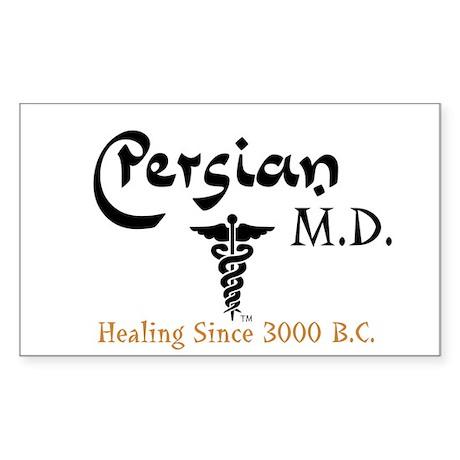 Persian M.D. Rectangle Sticker