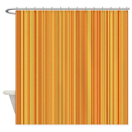 Peach And Orange Stripes Shower Curtain By Showercurtains1