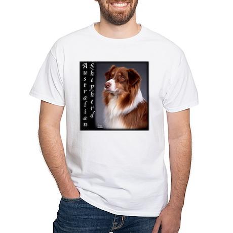 Australian Shepherds White T-Shirt