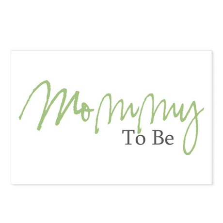 Mommy To Be (Green Script) Postcards (Package of 8