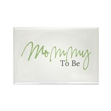 Mommy To Be (Green Script) Rectangle Magnet