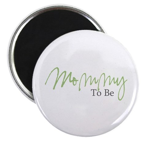 Mommy To Be (Green Script) Magnet