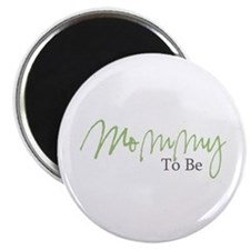 """Mommy To Be (Green Script) 2.25"""" Magnet (10 pack)"""