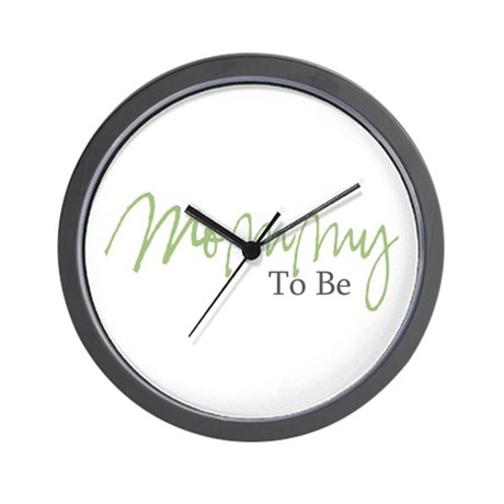 Mommy To Be (Green Script) Wall Clock