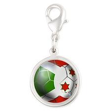 Burundi Football Silver Round Charm
