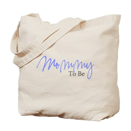 Mommy To Be (Blue Script) Tote Bag