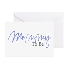 Mommy To Be (Blue Script) Greeting Cards (Package