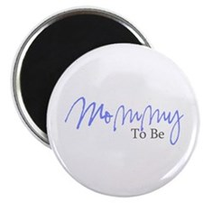 """Mommy To Be (Blue Script) 2.25"""" Magnet (10 pack)"""