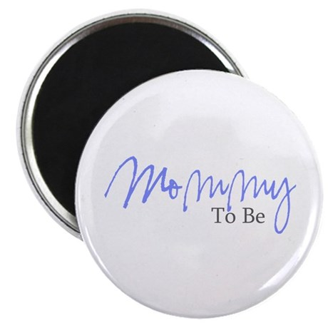 "Mommy To Be (Blue Script) 2.25"" Magnet (100 pack)"