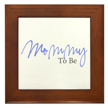 Mommy To Be (Blue Script) Framed Tile