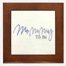 Mommy To Be (Blue Script) Framed Tile