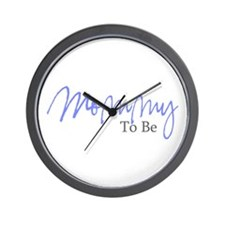 Mommy To Be (Blue Script) Wall Clock