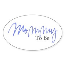 Mommy To Be (Blue Script) Oval Decal