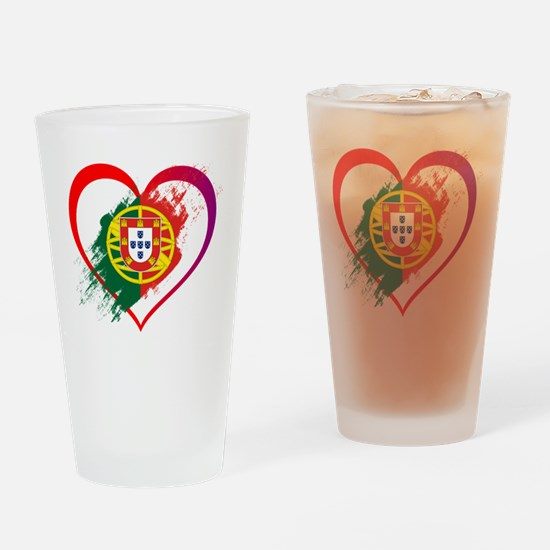 Unique Flag of portugal Drinking Glass
