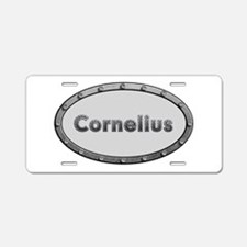 Cornelius Metal Oval Aluminum License Plate