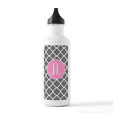 Monogram Gray Quarter  Water Bottle