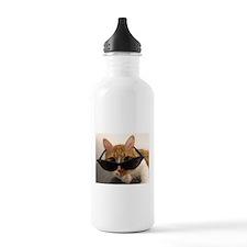 Cool Cat Wearing Sungl Water Bottle