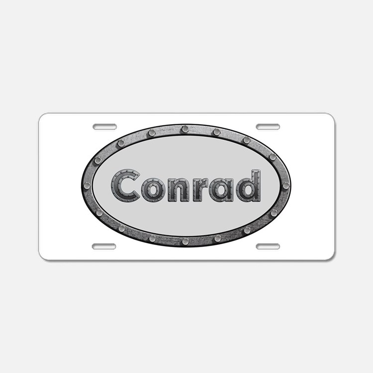 Conrad Metal Oval Aluminum License Plate