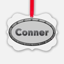 Conner Metal Oval Ornament
