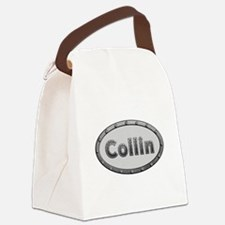 Collin Metal Oval Canvas Lunch Bag