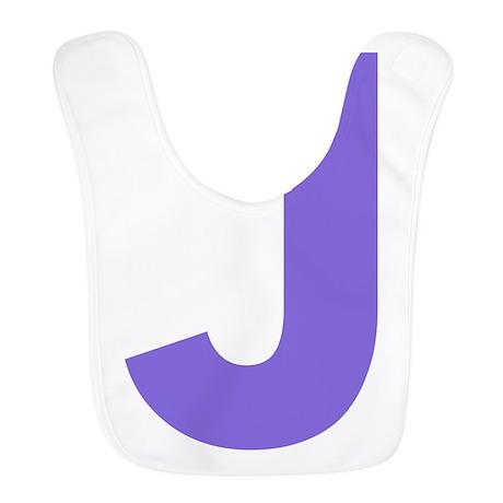 Letter J Purple Bib by lettersandnames