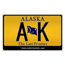 Alaska License Plate Sticker - AK (Rectangular)