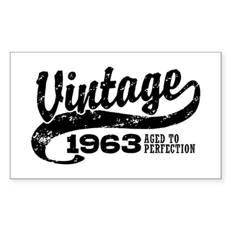 Vintage 1963 Sticker (Rectangle)