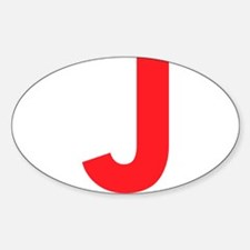 Letter J Red Decal