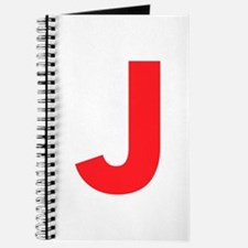 Letter J Red Journal