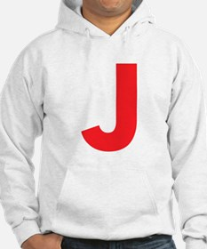 Letter J Red Hoodie