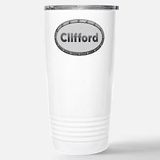 Clifford Metal Oval Travel Mug