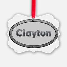 Clayton Metal Oval Ornament