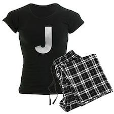 Letter J White Pajamas