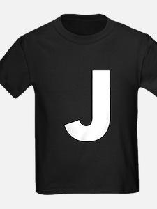 Letter J White T-Shirt